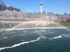 Regenbogen während Bootstour